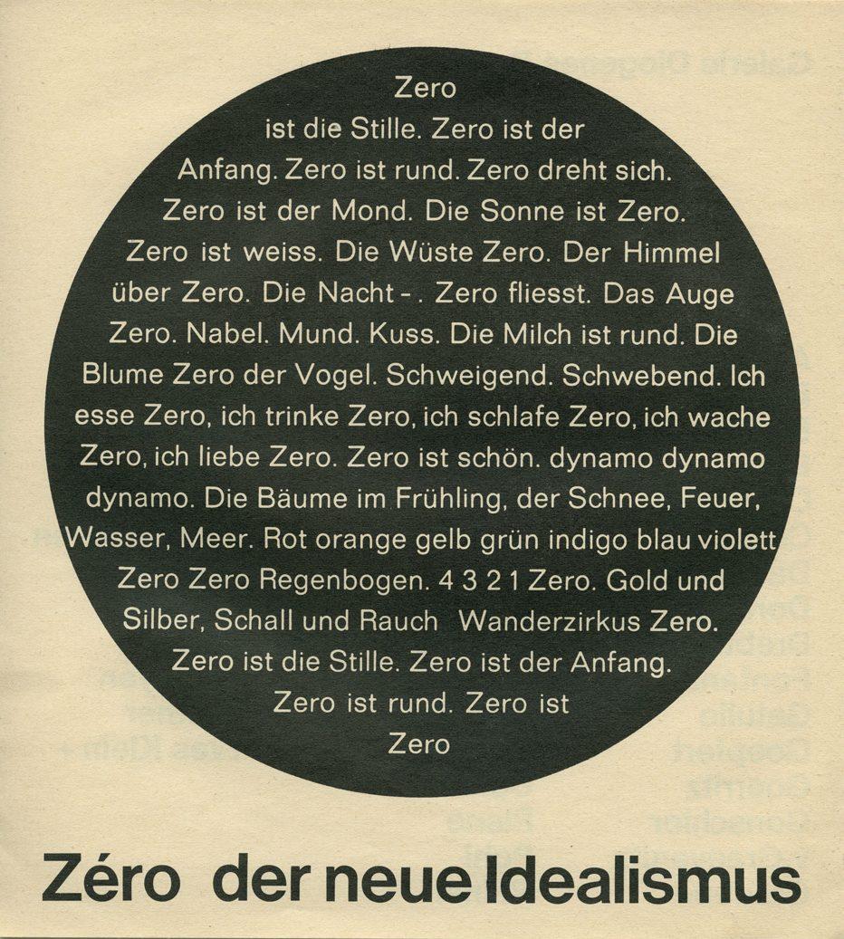 Zéro der neue Idealismus