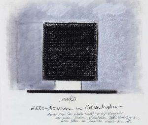 Heinz Mack, ZERO-Museum in Gelsenkirchen (ZERO-Haus Entwurf), 1963, Sammlung ZERO foundation