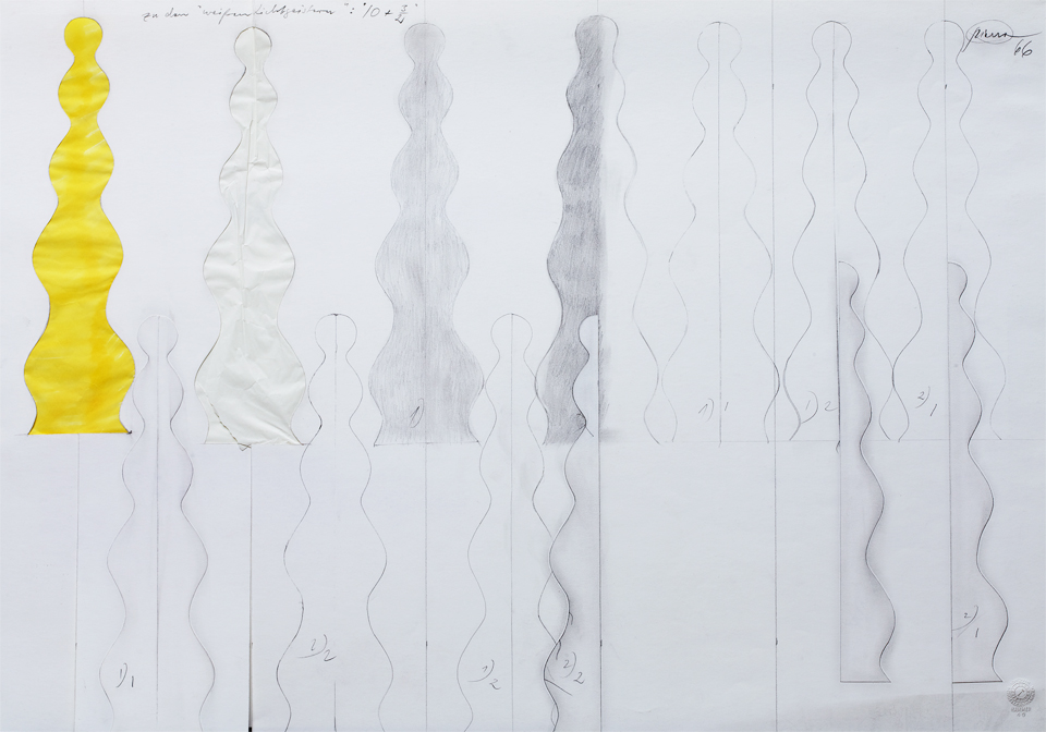 Otto Piene, Weißer Lichtgeist (Entwurfsskizze), 1966, Collection ZERO foundation