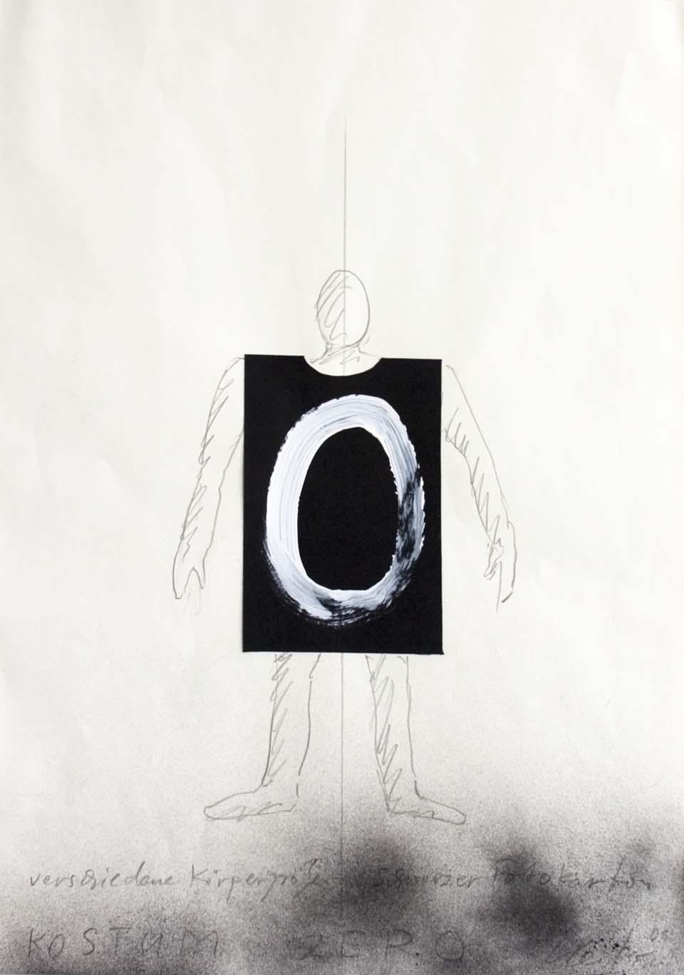 Günther Uecker, Kostüm ZERO (Entwurf), 2006, Sammlung ZERO foundation
