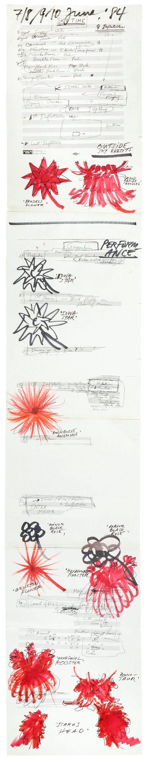 Otto Piene, Skydance / Skytime (Score for Guggenheim Sky Event), 1984, Collection ZERO foundation, Düsseldorf
