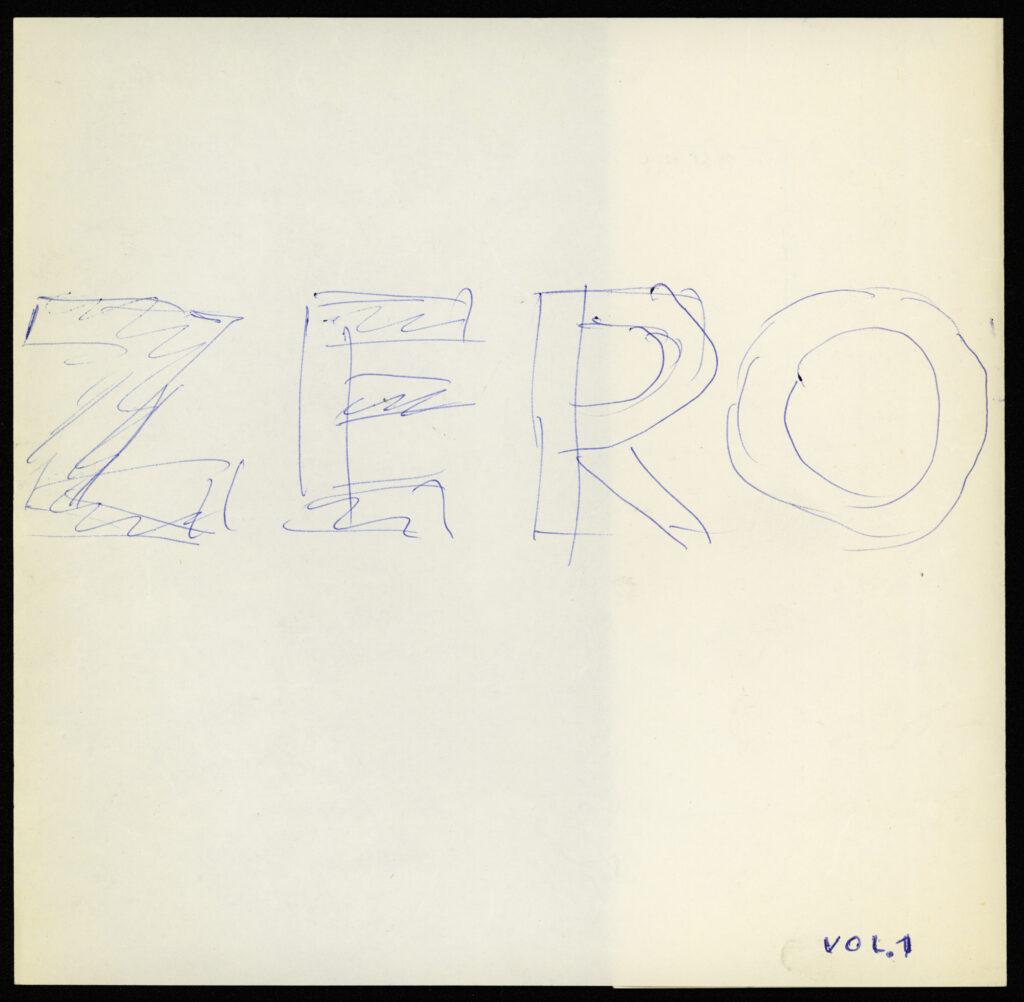 Otto Piene, Entwurf für das Cover der Zeitschrift ZERO 1